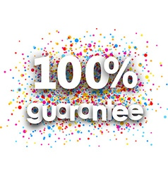 100 guarantee paper poster vector