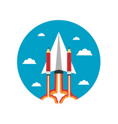 464paper plane with pencil icon vector