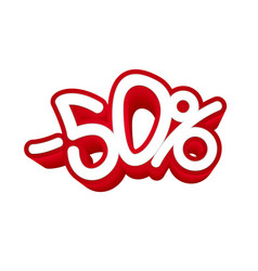 50 percent discount volumetric blank vector