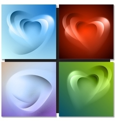 Abstract background with light lines and shadows vector image