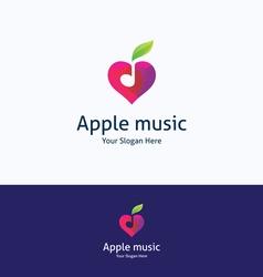 apple music love logo vector image