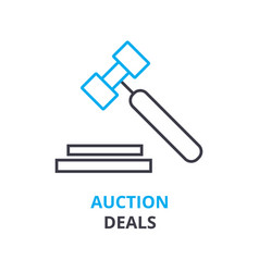 auction deals concept outline icon linear sign vector image