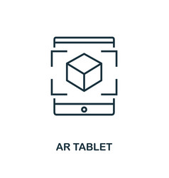 augmented reality tablet icon monochrome style vector image