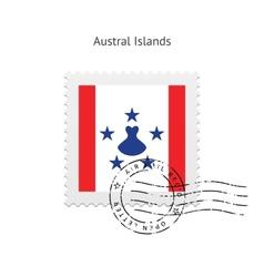 Australia Flag Postage Stamp vector image