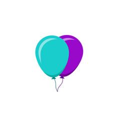 balloon flat design icon cartoon vector image