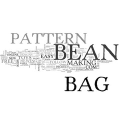 Bean bag pattern text word cloud concept vector