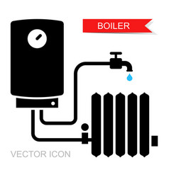 Boiler icons symbol heating equipment vector