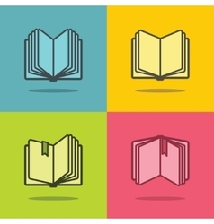Book icons with shadow vector