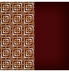 Brown background with gold pattern vector