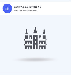 Brussels town hall icon filled flat sign vector