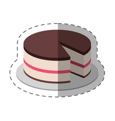 cake dessert food shadow vector image