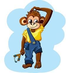 cartoon monkey boy vector image