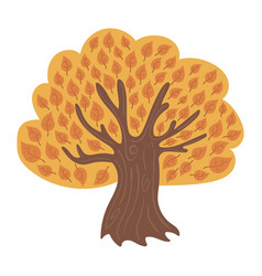Cartoon tree in autumn child of a vector