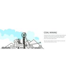 coal industry banner vector image