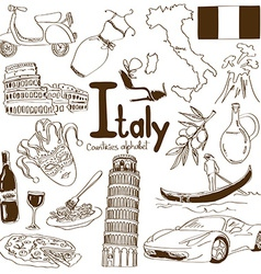 Collection of Italy icons vector image