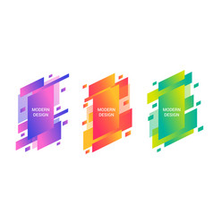 Colorful trendy banners set vector