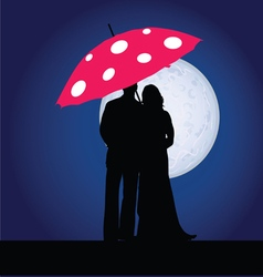 couple on the moonlight vector image