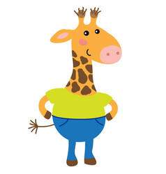 cute cartoon giraffe vector image