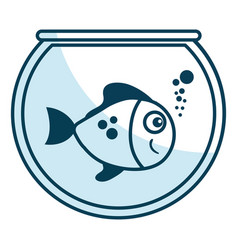 cute ornamental fish in aquarium vector image