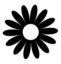Daisy chamomile black shape cute flower plant vector