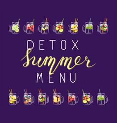 detox summer menu vector image