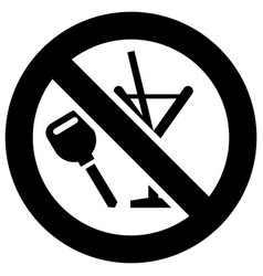Dont drink and drive forbidden sign modern round vector