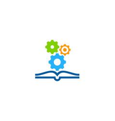 engineering book logo icon design vector image