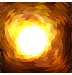 Explosion geometric gold background vector