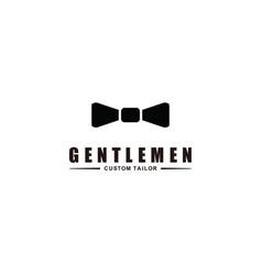 Gentleman icon logo concept for mens clothing vector