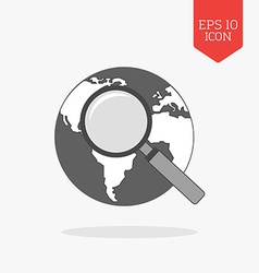 Global search icon Flat design gray color symbol vector image