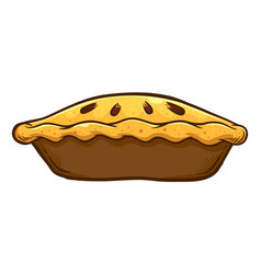 Hand drawn traditional apple pie vector