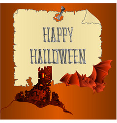 happy halloween inscription of bones a spooky vector image