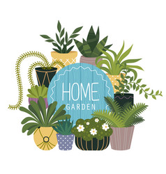 home garden flat banner isolated template vector image