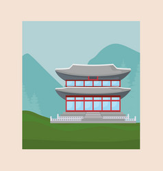 iconic asian palace design vector image