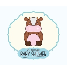 Kawaii cartoon baby shower design vector