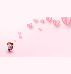 Love background with couple boy and girl hugs each vector