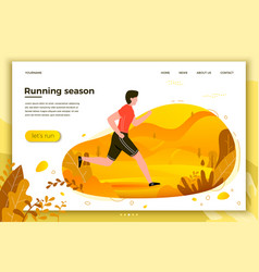 Man running in park vector