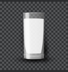 Milk in a glass dairy product in a clear glassful vector