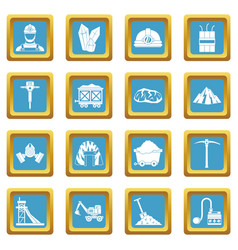 miner icons azure vector image