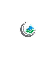 mountain forest logo icon vector image
