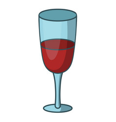 Red wine glass icon cartoon style vector
