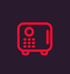Safe icon strongbox pictogram vector