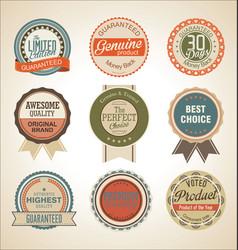 sale retro labels collection vector image