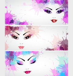 Set of fashion banners vector