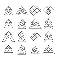 Set of trendy geometric shapes Geometric icons vector image