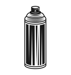 Spray paint can black vector