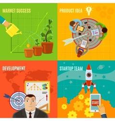 Startup Design Concept Set vector