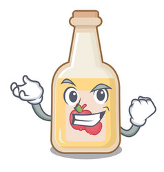 Successful apple cider isolated with mascot vector