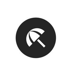 sun umbrella icon vector image