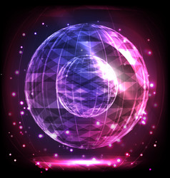 the sphere consisting of triangles and lines vector image